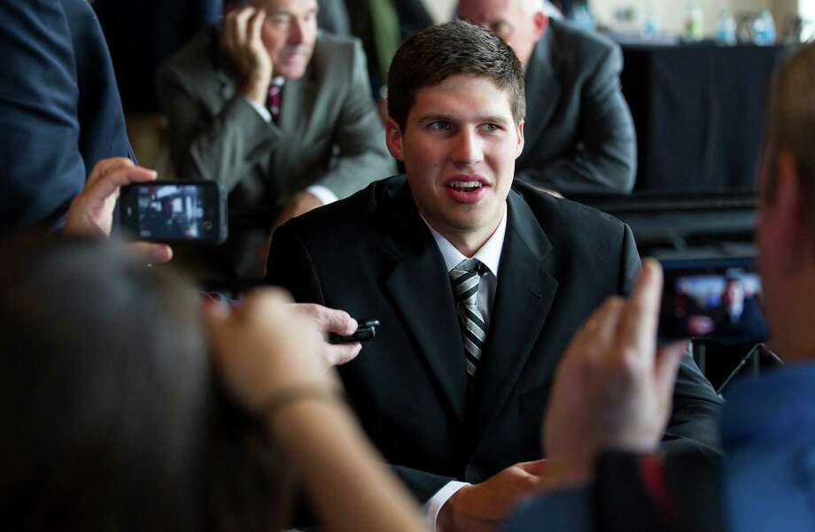 Forward Doug McDermott of Creighton University speaks to the media during the Big East Conference NCAA college basketball media day in New York, Wednesday, Oct. 16, 2013. (AP Photo/Craig Ruttle) ORG XMIT: NYCR101 Photo: Craig Ruttle / FR61802 AP