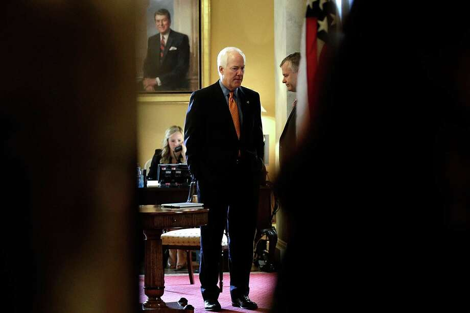 Texas Sen. John Cornyn's standing with the tea party may have wilted, thanks to his refusal to back Sen. Ted Cruz's Obamacare tactics, but the senior senator still has other support and millions in his war chest. Photo: Win McNamee, Staff / 2013 Getty Images