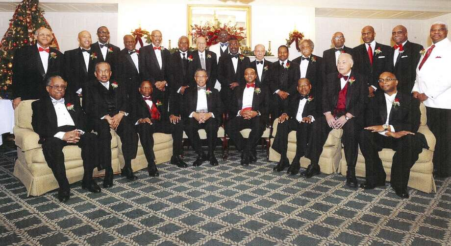 The members of Beta Psi boule. Left to right, back row: Leonard A. Slade, Jr., Timothy Taylor, William Wilkins, Leroy Twiggs, Earl Eichelberger, Gregory Owens, Twitty Styles, Christopher Ellis, Osborne McKay, Joseph Raggio, Raymond Walker, Charles Rush, William Chalmer, Curtis Lloyd, Edward Smart, Michael Hurt. Front row, left to right: Ken DeWitt, Bernard Ashe, Henry Leak, Levester Cannon, L. Oliver Robinson, John Herritage, Maurice Thornton, Andrew Gayle.  (Photo: Sigma Pi Phi, Beta Psi Boule Records, 1983-2013, M.E. Grenander Department of Special Collections and Archives, University Libraries, University at Albany, State University of New York.)