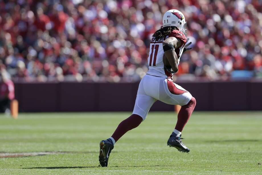 """4. The Legion of Boom versus Larry FitzgeraldSeven-time Pro Bowler and former All-Pro receiver Larry Fitzgerald (pictured) is the most recognizable face on Arizona's roster. He was just named the most-liked player in the NFL, according to Forbes (Russell Wilson was No. 5), and has been a fan-favorite the league around since his dominating performance in Super Bowl XLIII in Feburary 2009. People still talk about his 127 yards and two touchdowns on just seven catches in that Big Game.  While his production has dropped since those Kurt Warner heydays -- at least statistically speaking -- the 30-year-old Fitzgerald remains one of the best receivers in football, particularly known for his ability to win jump-balls. Yet he'll be going up against Seattle's Legion of Boom secondary, and particularly star cornerback Richard Sherman, who as perhaps the league's best cover corner is, like Fitzgerald, an expert at catching the ball at its highest point. Sherman may not be defending Fitzgerald on every play Thursday, but it'll be a must-see matchup.  Another storyline to keep an eye on, however, is a potential roster coup in the making. On Sunday, after Titans QB Ryan Fitzpatrick torched cornerback Brandon Browner on several early passes, Pete Carroll benched Browner for the rest of the second half and put in backup Walter Thurmond (he of """"The English Gentleman"""" locker-room style). As Seahawks fans know, there's always room for competition and no starter's job is safe in Seattle. Browner, 29, may be starting to show his age, or -- gasp -- starting to show why he spent his younger pro years in the Canadian Football League rather than the National Football League. But it's far too early to make any judgments; watch how Browner Photo: Marcio Jose Sanchez, Associated Press"""