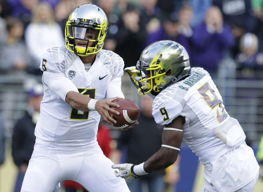Marcus Mariota 7/5 oddsOregon, Sophomore, QBStats: 100-165, 1,724 yards, 17 TDs, 0 INT, 41 rushes, 426 yards, 8 TDs  Source: Bovada.lv Photo: Elaine Thompson, Associated Press