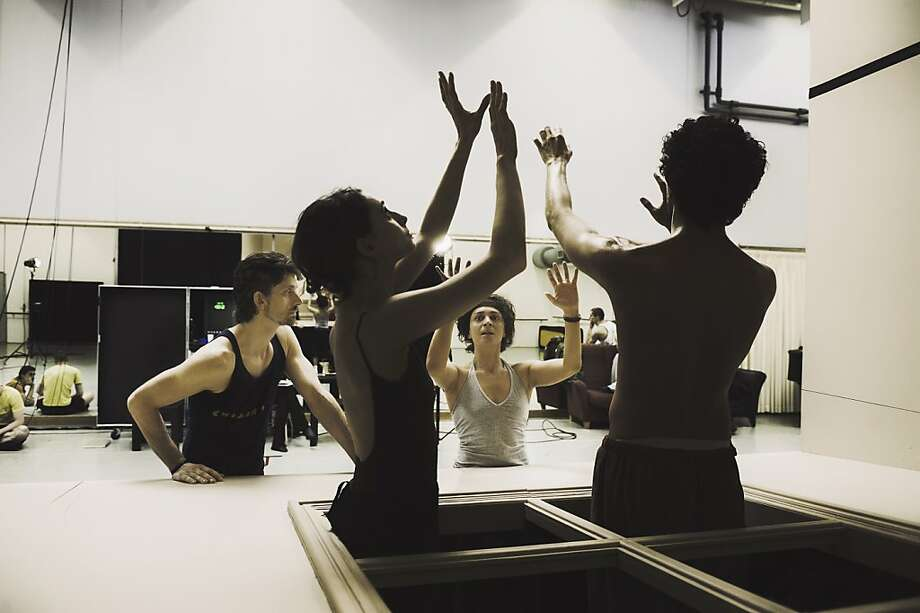 "Paul Lightfoot (left rear) and Sol León (facing camera) will perform ""Sehnsucht"" (2009) and ""Schmetterling"" (2010) at UC Berkeley's Zellerbach Hall. Photo: Rahi Rezvani"