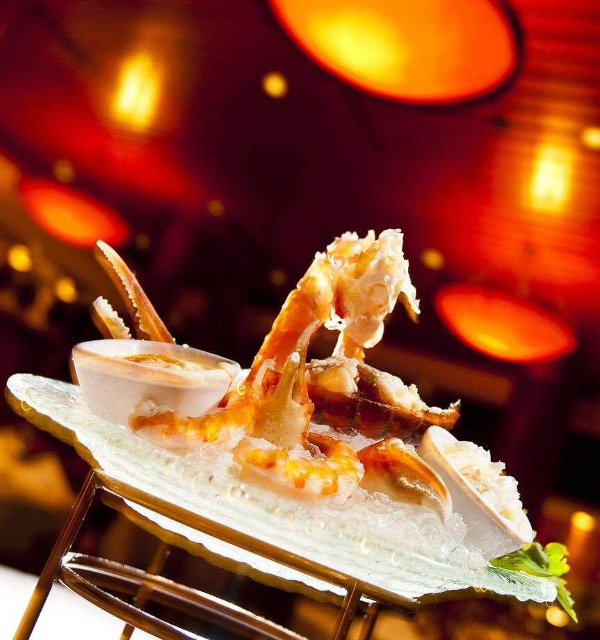 Fleming's Prime Steakhouse & Wine Bar's seafood medley.  (Nick de la Torre / Houston Chronicle ) Photo: Nick De La Torre, Houston Chronicle