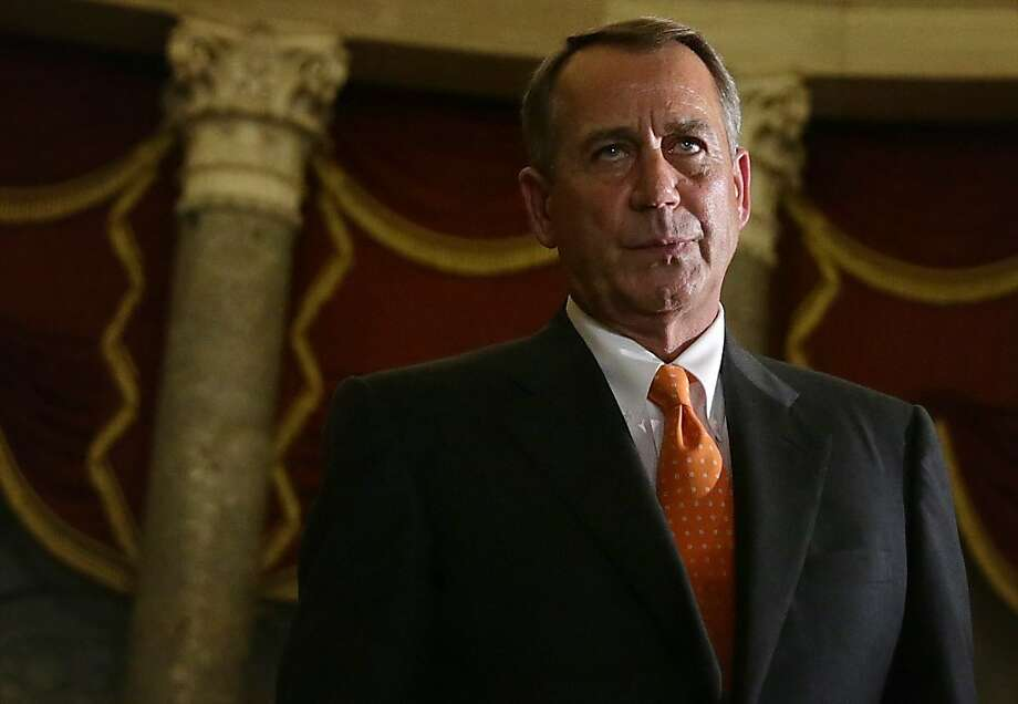 House Speaker John Boehner's inability to control his own party helped bring about the federal shutdown crisis. Photo: Alex Wong, Getty Images