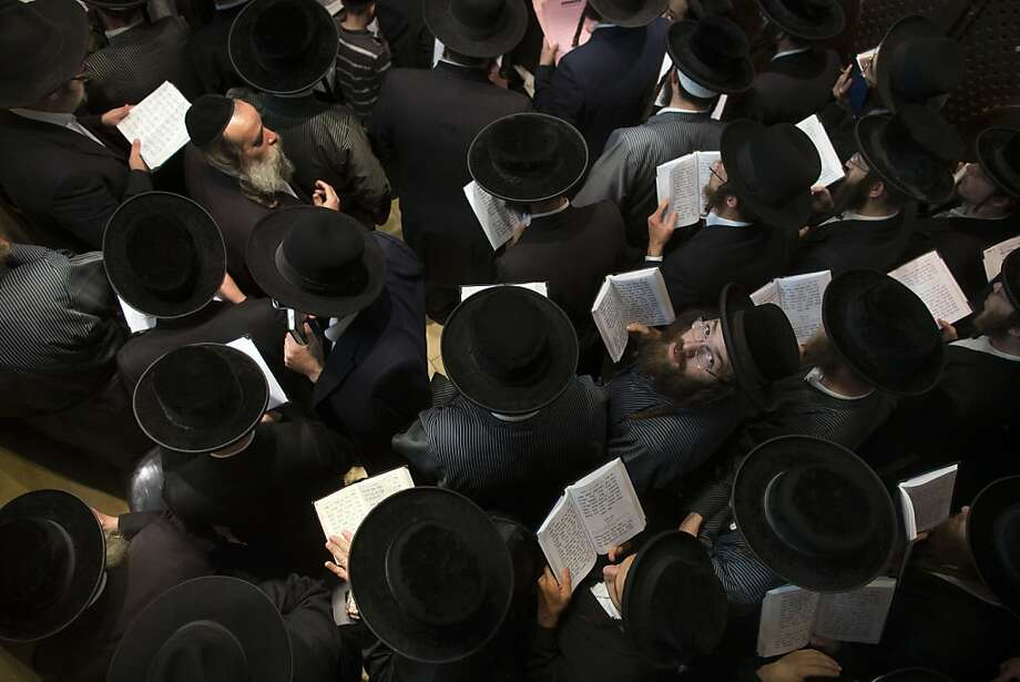 Prayers for Rachel: Ultra-Orthodox Jewish pilgrims pray at the tomb of the Biblical matriarch Rachel in Bethlehem, West Bank. 
