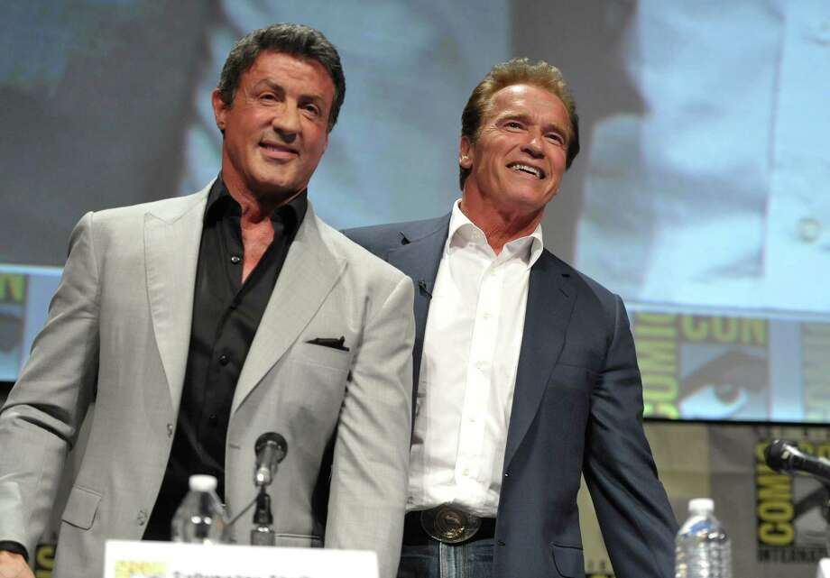"Sylvester Stallone and Arnold Schwarzenegger attend ""The Expendables"" Panel at Comic-Con on Thursday, July 12, 2012 in San Diego, Calif. (Photo by John Shearer/Invision/AP) Photo: John Shearer / 2012 Invision"