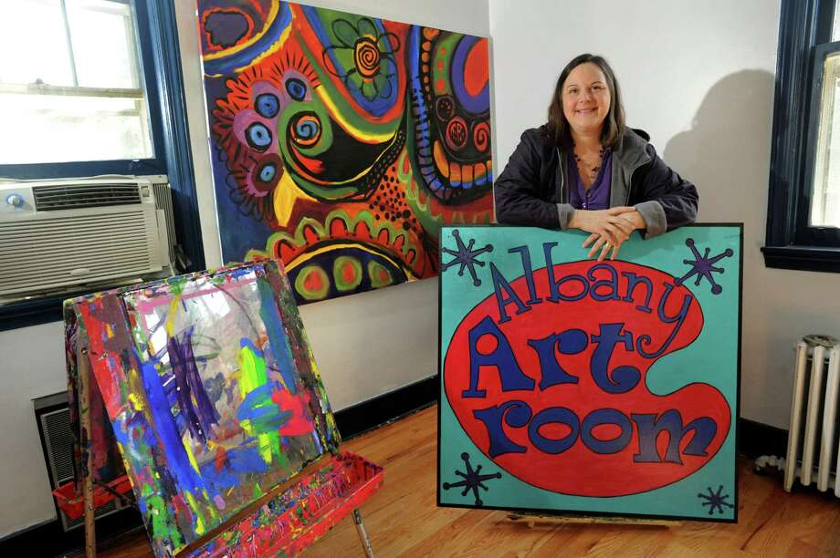 Artist and business owner Karen Schupack in the classroom on Wednesday, Oct. 9, 2013, at the Albany Art Room in Albany, N.Y. (Cindy Schultz / Times Union) Photo: Cindy Schultz / 00024133A
