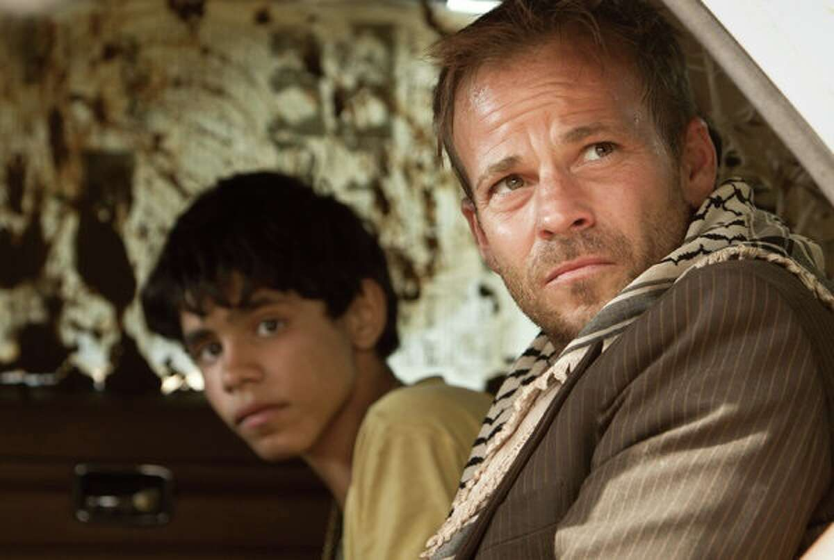 """Stephen Dorff plays an Israeli pilot and Abdallah El Akal plays a boy named Fahed who becomes his captor in """"Zaytoun."""""""