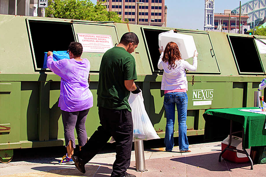 Discovery Green Conservancy will accept recycling Oct. 26. Photo: Provided By Discovery Green Conservancy