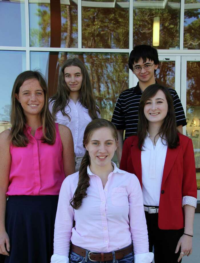 The John Cooper School students named as 2014 National Merit Scholarship Competition semifinalists are, from left, Margaret Whitney, Laura Densmore, Caroline Sands, Zachary Fojtasek and Molly Garrison. Photo: Photo By The John Cooper School
