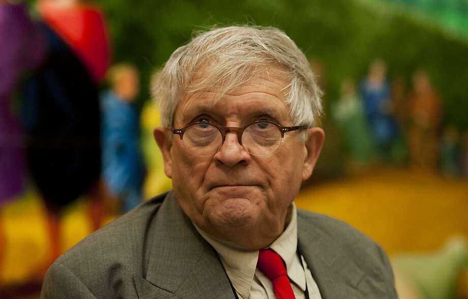 David Hockney's latest fascination is the iPad screen as an artistic medium. Photo: Tim Schulz, Associated Press