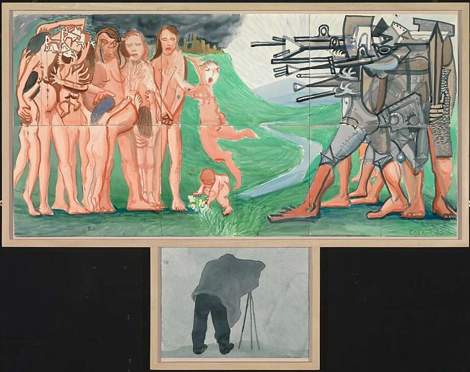 """""""The Massacre and the Problems of Depiction."""" Photo: Richard Schmidt, Collection Of The David Hockney"""