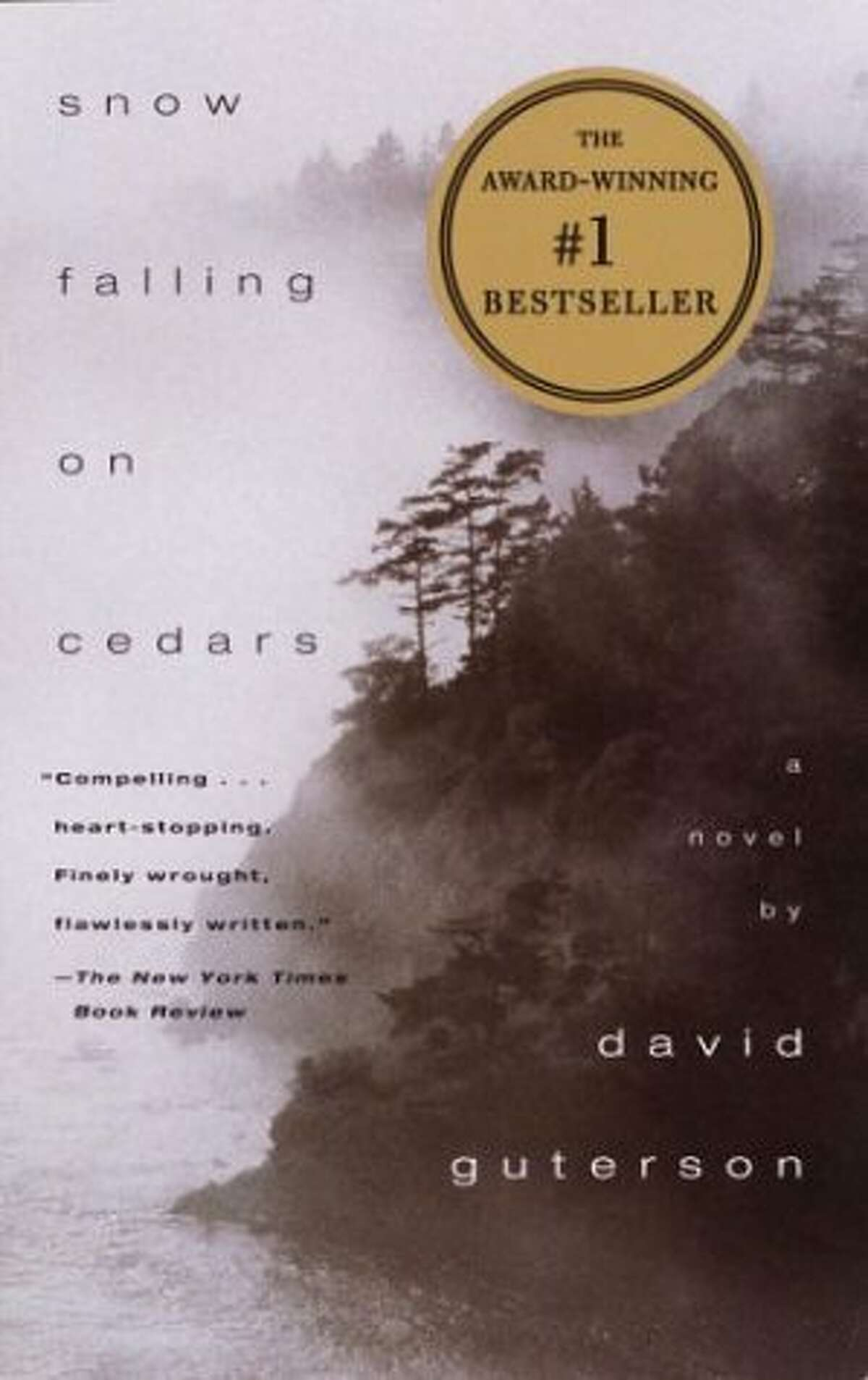 Snow Falling on Cedars This 1994 award-winning novel by Seattle native David Guterson was set in the fictional northern Puget Sound locale of San Piedro Island. The plot, set in 1954, centers on a murder case in which a Japanese American is accused of killing a respected fisherman in a close-knit community. The book was adapted into a 1999 film starring Ethan Hawke that received an Oscar nod for best cinematography.