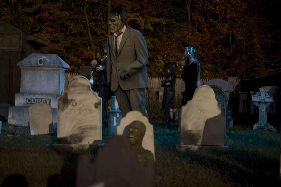 Haunted Graveyard, Lake Compounce, Bristol -- The amusement park turns into an eerie walk-through attraction featuring six haunted houses and a graveyard linked by a maze of terrifying trails. Weekends through Oct. 27, Friday and Saturday dusk to midnight, Sunday dusk to 10 p.m. hauntedgraveyard.com Photo: Contributed Photo, ST