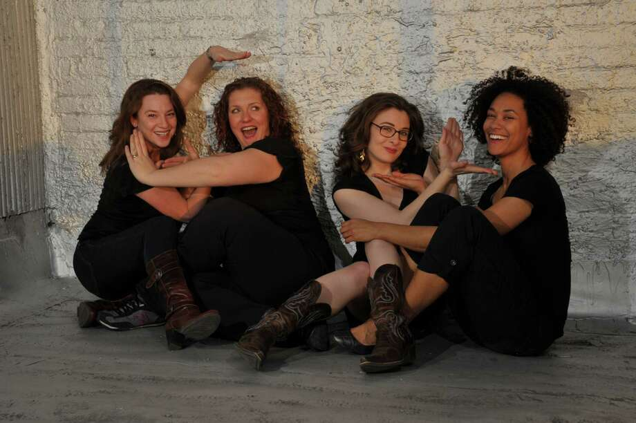 Pink Collar Comedy Tour feauring (from left) Carrie Gravenson, Erin Judge, Kaytlin Bailey and Abbi Crutchfield comes to Bridgeport's Acoustic Cafe on Friday and Saturday, Oct. 25 and 26. Photo: Contributed Photo / Connecticut Post Contributed
