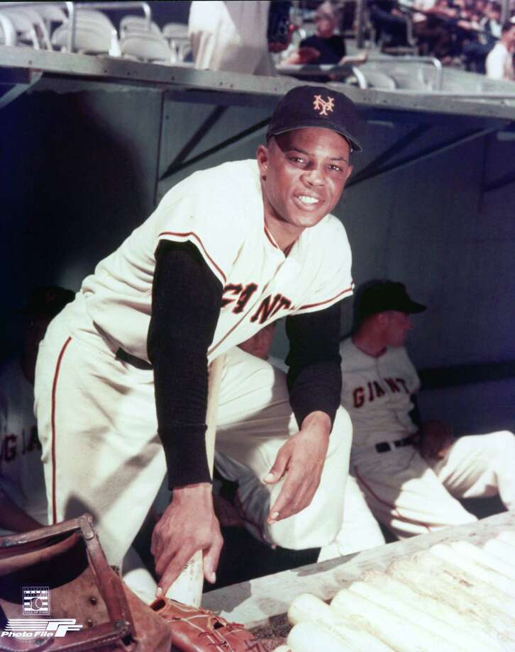 Willie Mays played an impressive game at Mission Stadium in 1956. Later that year in Victoria, he sat out. Photo: Getty Images File Photo