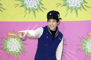 Singer Austin Mahone arrives at Nickelodeon's 26th Annual Kids' Choice Awards at USC's Galen Center on March 23, 2013 in Los Angeles.