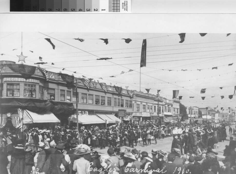 If you're someone that likes to take a lot of breaks during the day, try grabbing a spot at the Oakland Public Library. When you're ready for a break, head up to the Oakland History Room and paw through all their old photos, like this one of a 1910 Fruitvale Avenue street party.   Details: 125 14th Street, Oakland. Hours: Noon to 5:30 p.m. Photo: Oakland History Room/Online Archive Of California, Courtesy
