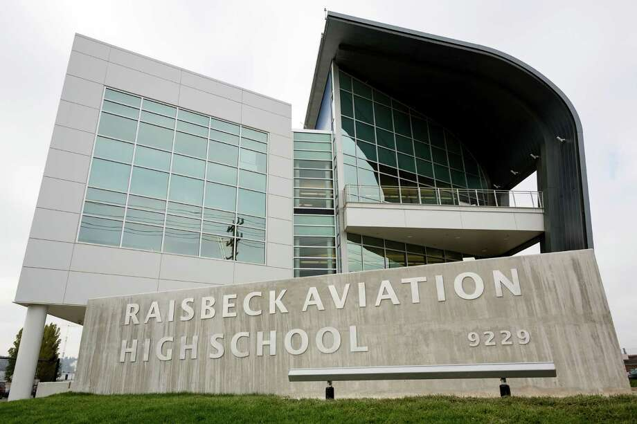 A view of the outside of the Raisbeck Aviation High School Thursday, Oct. 17, 2013, in Tukwila. Photo: JORDAN STEAD, SEATTLEPI.COM / SEATTLEPI.COM