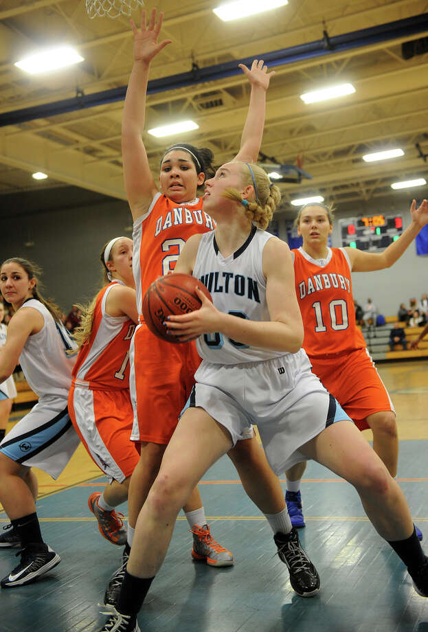 Wilton's Erica Meyer has committed to play basketball at Providence College. Photo: Brian A. Pounds / Connecticut Post