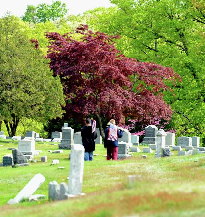 A visit to Ives' grave at Wooster Cemetery in Danbury at 12:30 p.m.; meet in section M of the cemetery. Photo: Michael Duffy / The News-Times