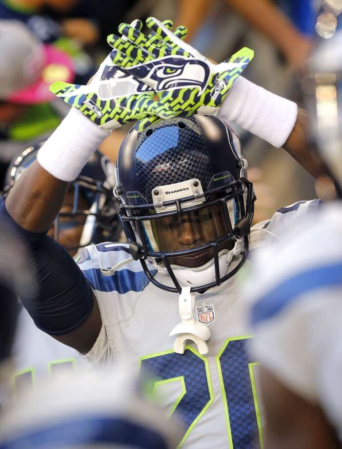 Seattle Seahawks cornerback Jeremy Lane takes the field prior to a NFL football game against the Arizona Cardinals, Thursday, Oct. 17, 2013, in Glendale, Ariz. (AP Photo/Matt York) Photo: AP