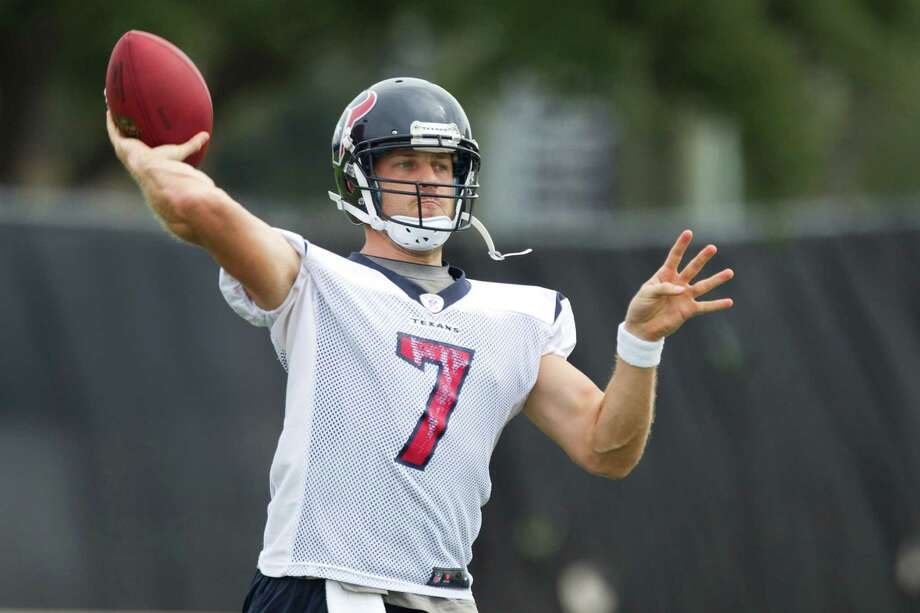 Texans quarterback Case Keenum hones his passing skills in preparation for his first NFL start, Sunday against the unbeaten Chiefs. Photo: Brett Coomer, Staff / © 2013  Houston Chronicle
