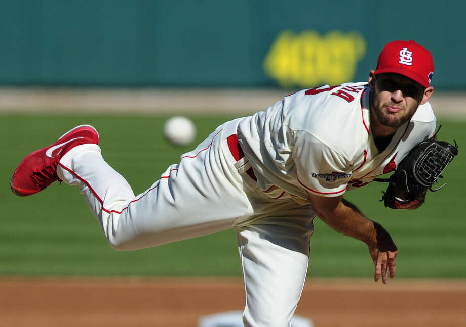 Cardinals rookie Michael Wacha, a former standout at Texas A&M, outpitched Dodgers ace Clayton Kershaw in Game 2. The two are matched again in Game 6. Photo: Jeff Curry / Associated Press