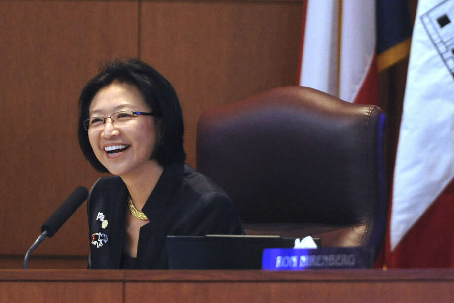 Elisa Chan attends her last meeting as a member of San Antonio City Council. Photo: Billy Calzada / San Antonio Express-News
