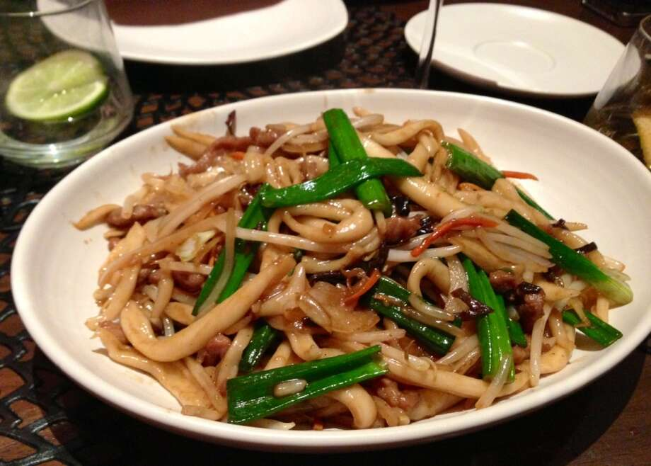 Scissor-cut noodles with wild boar at MY China ($14)