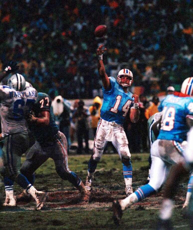 Cody CarlsonYear: 1988 Week 3Result: Loss at Jets 45-3Stats: 9-25 for 108 yards, 0 TDs, 2 INTs - 16.7 rating Photo: Martin Venegas, MEXSPORT
