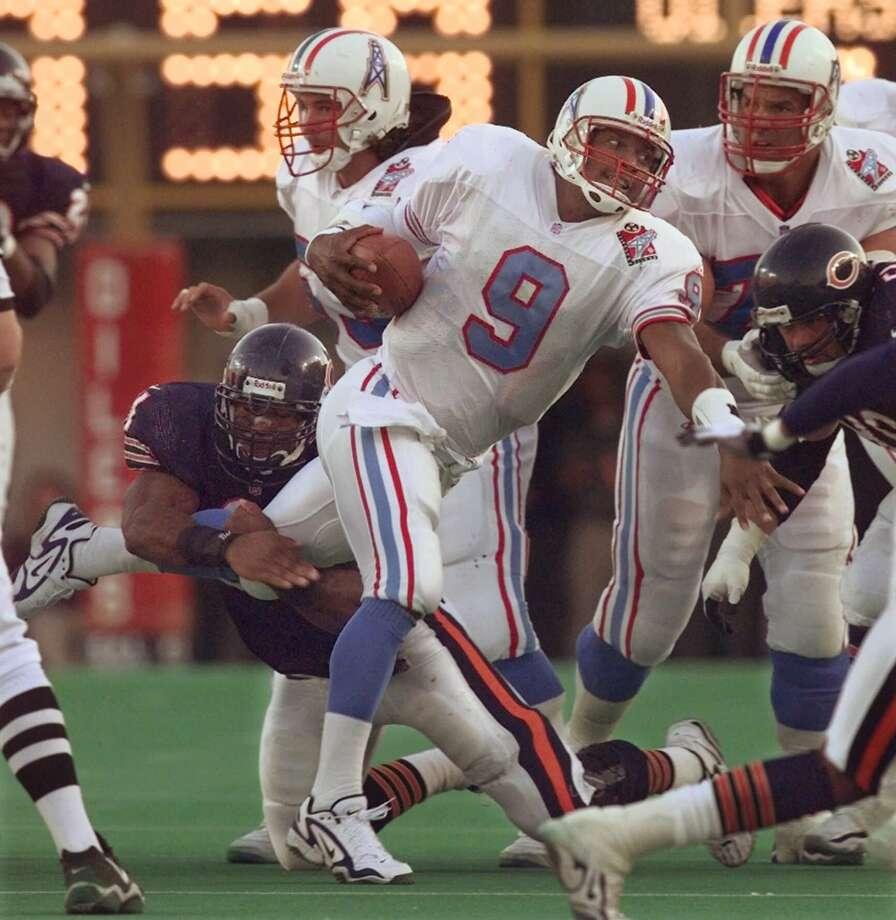 Steve McNairYear: 1995 Week 16Result: Win at Bills 28-17Stats: 12-26 for 168 yards, 1 TD, 0 INT - 80.3 rating Photo: MARK HUMPHREY, AP