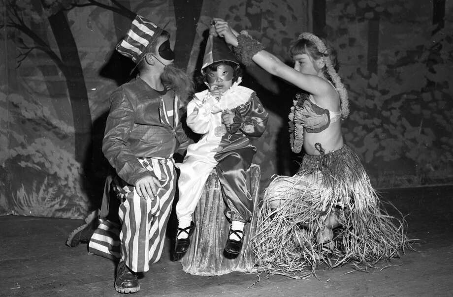 Oct. 28, 1950: I will take back anything negative I said about costume-making in the 1950s, and admit that's a pretty sweet (and topical) Uncle Sam. Photo: Gordon Peters, The Chronicle