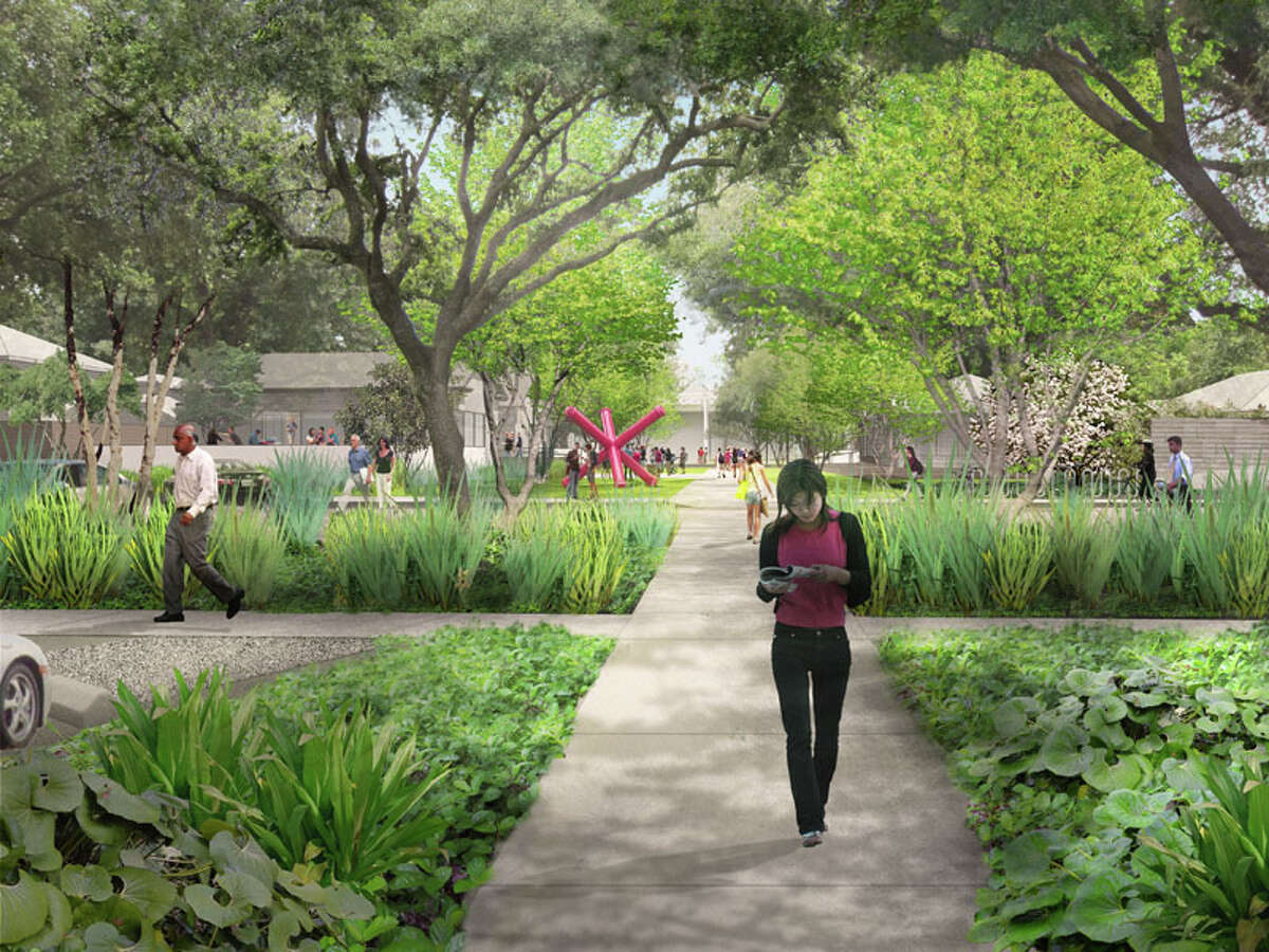 On Oct. 9, 2013, the Menil Collection unveiled the vision for how it will welcome visitors into its 30-acre campus in the heart of Houston, with shaded walkways and lush beds of indigenous plants leading past a new caf toward the renowned main museum building.The design the first to be revealed from the distinguished firm of Michael Van Valkenburgh Associates shows how the Menil will transform what is now the asphalt expanse of a parking lot into a campus gateway that begins at West Alabama Street. Incorporated into the entry sequence as an integral part of the Menil s vision will be a caf building, created as a meeting place between the campus and the Houston community. Designed by the award-winning Houston firm of Stern and Bucek Architects, the caf will be operated by noted restaurateur Greg Martin.