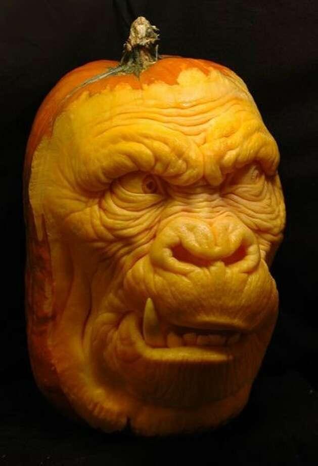 A 3D pumpkin sculpture by Villafane Studios Photo: Villafane Studios