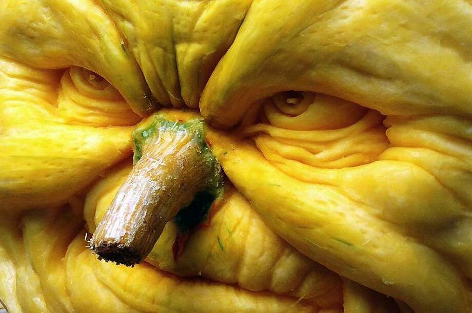 One of the first 3D pumpkin sculptures of Fall 2013 by Villafane Studios Photo: Villafane Studios