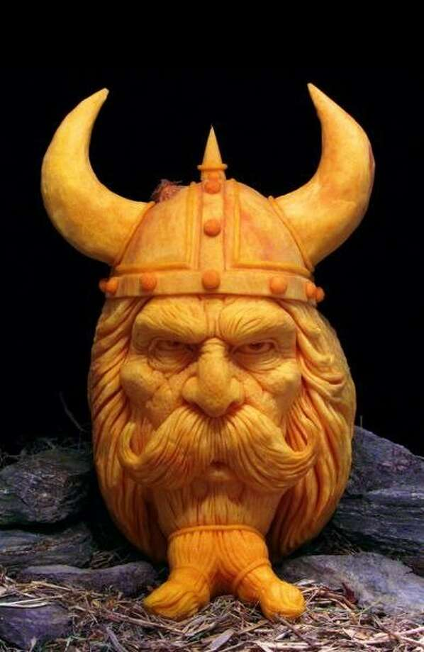 A 3D pumpkin sculpture by Villafane Studios Photo: Villafane Studios
