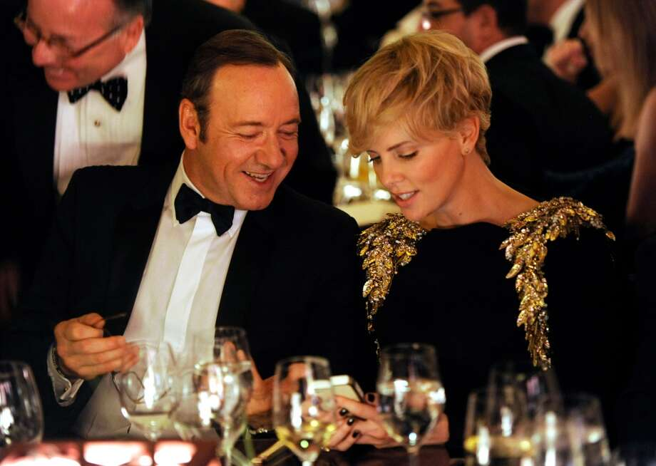 Actors Kevin Spacey, left, and Charlize Theron attend the Wallis Annenberg Center for the Performing Arts Inaugural Gala on Thursday, Oct. 17, 2013, in Beverly Hills, Calif. (Photo by Chris Pizzello/Invision/AP) Photo: Associated Press