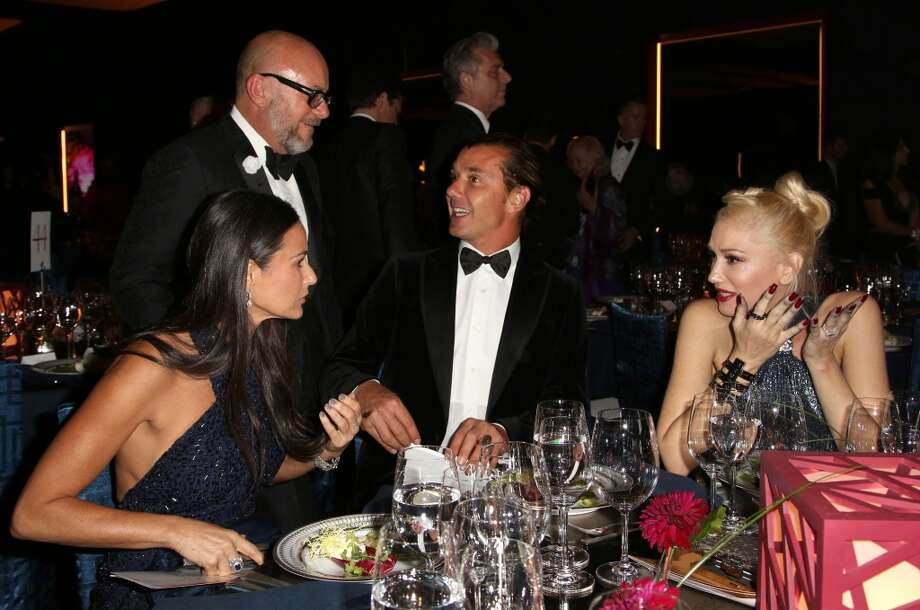 From left, actress Demi Moore and musicians Gavin Rossdale and Gwen Stefani attend the Wallis Annenberg Center for the Performing Arts Inaugural Gala on Thursday, Oct. 17, 2013, in Beverly Hills, Calif. (Photo by Brian Dowling/Invision/AP) Photo: Associated Press
