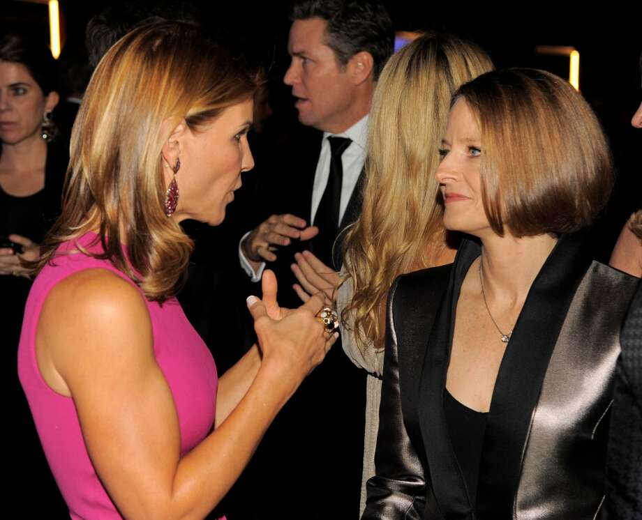 Actresses Lori Loughlin, left, and Jodie Foster attend the Wallis Annenberg Center for the Performing Arts Inaugural Gala on Thursday, Oct. 17, 2013, in Beverly Hills, Calif. (Photo by Chris Pizzello/Invision/AP) Photo: Associated Press