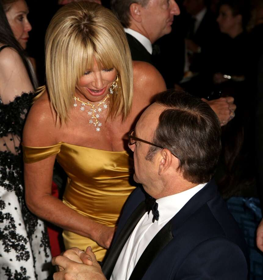Actors Suzanne Somers, left, and Kevin Spacey attend the Wallis Annenberg Center for the Performing Arts Inaugural Gala on Thursday, Oct. 17, 2013, in Beverly Hills, Calif. (Photo by Brian Dowling/Invision/AP) Photo: Associated Press