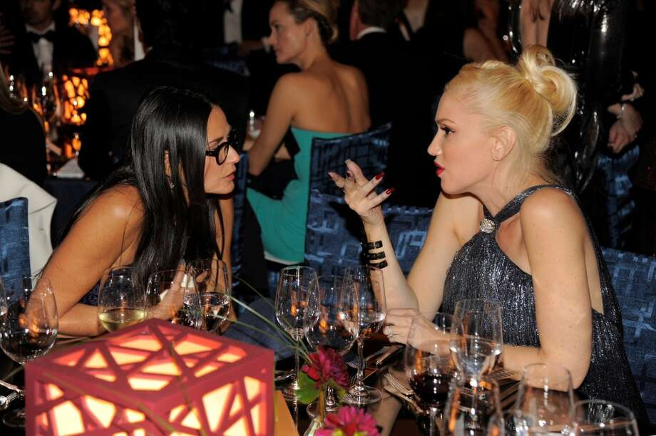 Actress Demi Moore, left, and musician Gwen Stefani attend the Wallis Annenberg Center for the Performing Arts Inaugural Gala on Thursday, Oct. 17, 2013, in Beverly Hills, Calif. (Photo by Chris Pizzello/Invision/AP) Photo: Associated Press