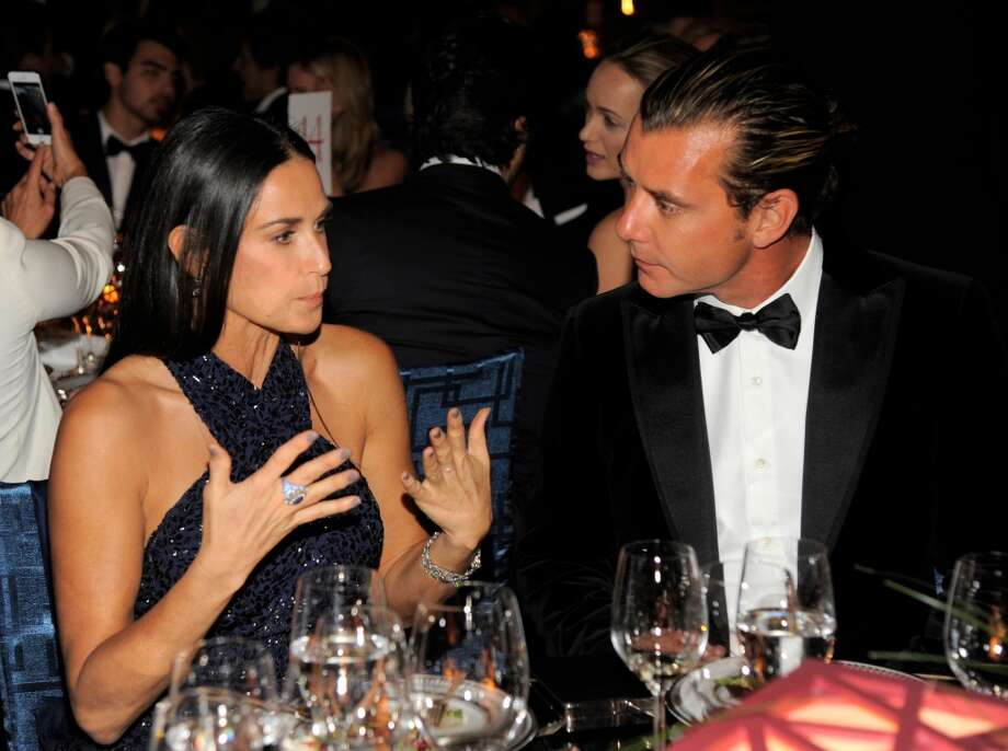 Actress Demi Moore, left, and musician Gavin Rossdale attends the Wallis Annenberg Center for the Performing Arts Inaugural Gala on Thursday, Oct. 17, 2013, in Beverly Hills, Calif. (Photo by Chris Pizzello/Invision/AP) Photo: Associated Press