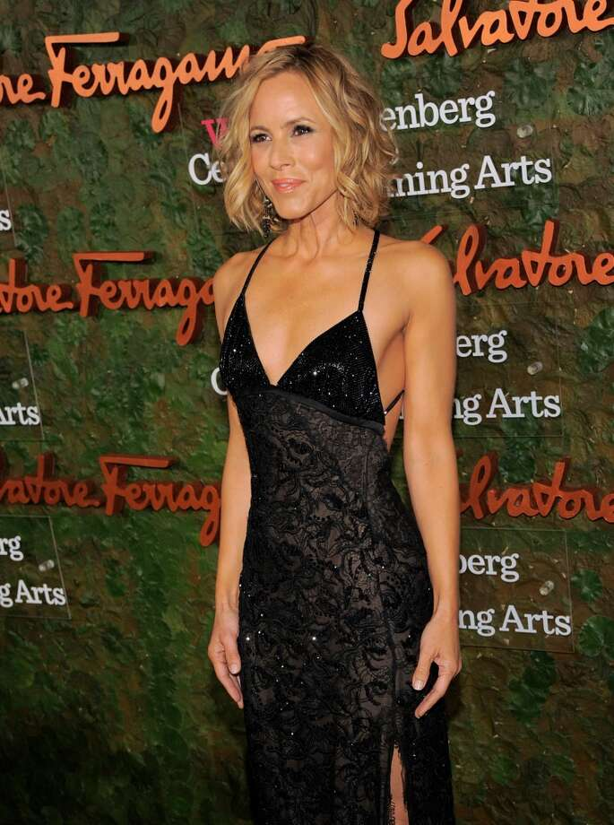 Actress Maria Bello arrives at the Wallis Annenberg Center for the Performing Arts Inaugural Gala on Thursday, Oct. 17, 2013, in Beverly Hills, Calif. (Photo by Chris Pizzello/Invision/AP) Photo: Associated Press