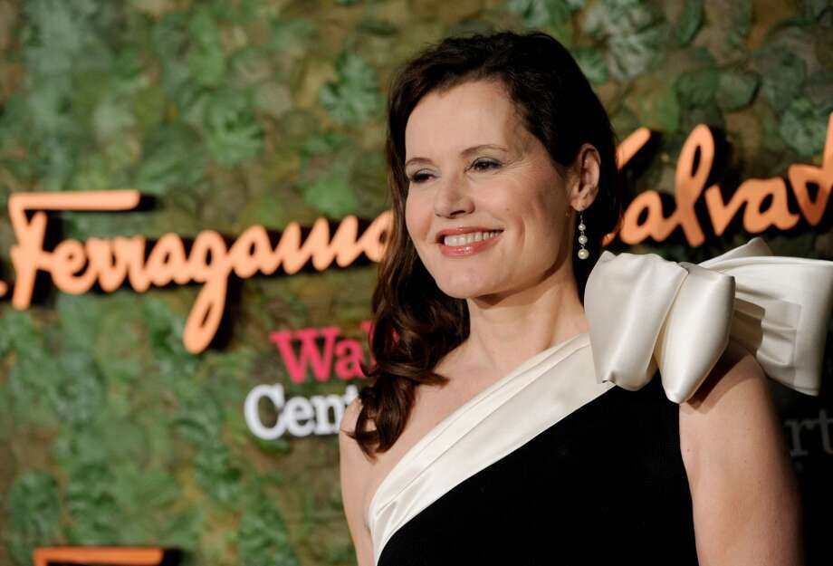 Actress Geena Davis arrives at the Wallis Annenberg Center for the Performing Arts Inaugural Gala on Thursday, Oct. 17, 2013, in Beverly Hills, Calif. (Photo by Chris Pizzello/Invision/AP) Photo: Associated Press