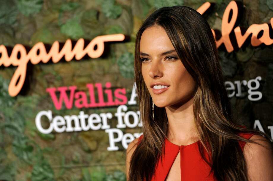 Model Alessandra Ambrosio arrives at the Wallis Annenberg Center for the Performing Arts Inaugural Gala on Thursday, Oct. 17, 2013, in Beverly Hills, Calif. (Photo by Chris Pizzello/Invision/AP) Photo: Associated Press