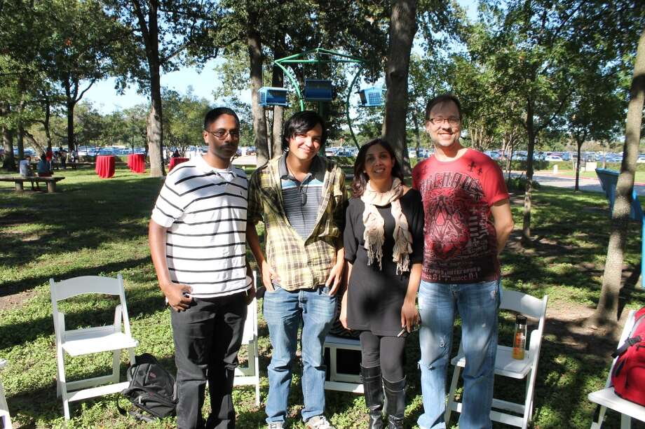 Undergraduate poets and fiction writers represented UH's Glass Mountain literary journal.