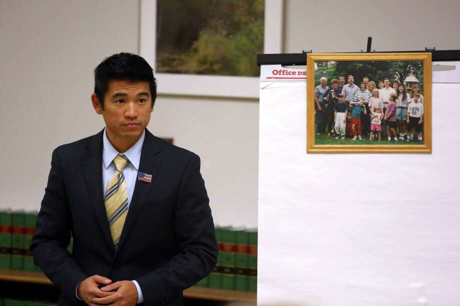 Senior Deputy Prosecutor Wyman Yip addresses the court during a sentencing hearing for Michael Chadd Boysen. Boysen was given two life sentences without the possibility of parole for killing his grandparents after they welcomed him home from prison. Photographed on Friday, October 18, 2013 at the King County Courthouse. Photo: JOSHUA TRUJILLO, SEATTLEPI.COM / SEATTLEPI.COM