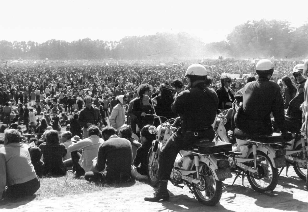 Californians like the ones at this peace rally in San Francisco first attempted to re-legalize cannabis at the ballot box in the '70s, kicking off decades of failed efforts.
