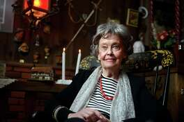 Renowned paranormal investigator Lorraine Warren, 85, at her home in Monroe, Conn. Friday, Oct. 18, 2013.